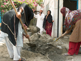 Women Work on a School Repair Project in Jalalabad, Afghanistan Photographic Print by Kris Leboutillier