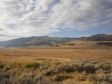 Hills and Vast Grasslands under a Cloud-Filled Sky in the Lamar Valley Photographic Print by Marc Moritsch