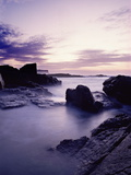 The Sea Moving Among the Rocks at Dunseverick in County Antrim Photographic Print by Chris Hill