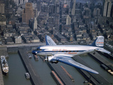A United Airlines Mainliner Flies Through the Air Photographic Print by Luis Marden