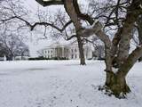 Snow on the White House Lawn Photographic Print by Brian Gordon Green