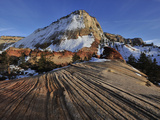 Petrified Sand Dunes in Zion National Park in Winter Photographic Print by Raul Touzon