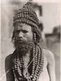 Portrait of a Hindu Holy Man Photographic Print by Maynard Owen Williams