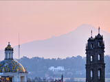 The 5,452-Meter (17,900-Foot) Tall Popocatepetl Volcano Towers over Puebla Photographic Print by Steve Raymer