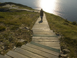 Hiking on Trail at North End of Cape Breton Highlands National Park Photographic Print by Karen Kasmauski