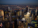 Helicopter View of New York City at Night Photographic Print by Alison Wright