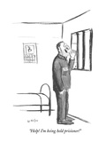 """Help! I'm being held prisioner!"" - New Yorker Cartoon Premium Giclee Print by Warren Miller"