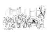 Variation of famous painting of Declaration of Independence being written … - Cartoon Premium Giclee Print by Mort Gerberg
