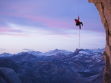 Expert Climber and Photographer, Jimmy Chin, on Half Dome Photographic Print by Mikey Schaefer