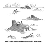 """""""Look at the bright side.  At least our mutual fund was a winner."""" - Cartoon Premium Giclee Print by Joseph Farris"""