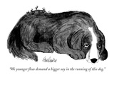 """We younger fleas demand a bigger say in the running of this dog."" - New Yorker Cartoon Premium Giclee Print by J.B. Handelsman"