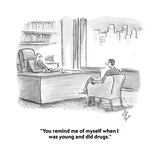 """""""You remind me of myself when I was young and did drugs."""" - Cartoon Premium Giclee Print by Frank Cotham"""