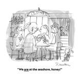 """""""We are at the seashore, honey!"""" - Cartoon Premium Giclee Print by Boris Drucker"""