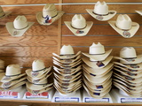 A Selection of Cowboy Hats in a Store in Wyoming Photographic Print by Drew Rush