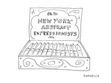An open cigar box has a label on its inside cover that reads 'Old  New Yor… - Cartoon Premium Giclee Print by Liza Donnelly