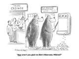 """Now aren't you glad we didn't hibernate, Mildred?"" - Cartoon Premium Giclee Print by Harley L. Schwadron"