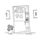 "executive's door reads: 'R. Beasly, President ""Weight Control Gymnasiums, … - Cartoon Premium Giclee Print by Harley L. Schwadron"