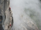 Climbers Ascend El Capitan Using Ropes Photographic Print by Jimmy Chin