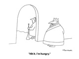"""Hit it. I'm hungry."" - New Yorker Cartoon Premium Giclee Print by Charles Barsotti"