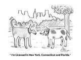 """"""" I'm licensed in New York, Connecticut and Florida."""" - Cartoon Premium Giclee Print by Leo Cullum"""