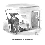 &quot;Pssst!  Keep him on the payroll.&quot; - Cartoon Premium Giclee Print by Frank Cotham