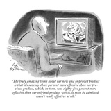 """""""The truly amazing thing about our new and improved product is that it's s…"""" - New Yorker Cartoon Premium Giclee Print by Ed Fisher"""