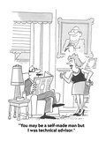 """You may be a self-made man but I was technical advisor."" - Cartoon Premium Giclee Print by Bob Zahn"