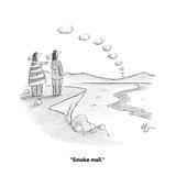 """Smoke mail."" - Cartoon Premium Giclee Print by Frank Cotham"