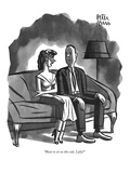 """Want to sit on this side, Lefty?"" - New Yorker Cartoon Premium Giclee Print by Peter Arno"
