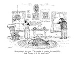 """Everything's just fine. The garden is coming in beautifully, and Jeremy i…"" - New Yorker Cartoon Premium Giclee Print by Edward Koren"