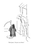 """Don't panic.  I'm just a sore throat."" - New Yorker Cartoon Premium Giclee Print by Sidney Harris"