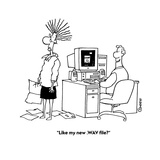 """Like my new .WAV file?"" - Cartoon Premium Giclee Print by Ted Goff"