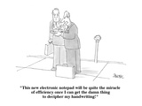 """This new electronic notepad will be quite the miracle of efficiency once …"" - Cartoon Premium Giclee Print by Jack Ziegler"