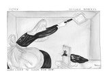 Nora Loved To Cook For Bob. - Cartoon Premium Giclee Print by Victoria Roberts
