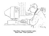 """""""Dear Diary:  Repeat yesterday's entry.  Delete 'ham.'  Enter 'pastrami.'"""" - Cartoon Premium Giclee Print by Mike Twohy"""