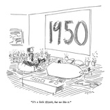 """It's a little fiftyish, but we like it."" - New Yorker Cartoon Premium Giclee Print by Dean Vietor"