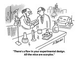 """""""There's a flaw in your experimental design. All the mice are scorpios."""" - Cartoon Premium Giclee Print by Aaron Bacall"""