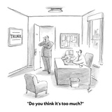 """Do you think it's too much?"" - Cartoon Premium Giclee Print by Frank Cotham"