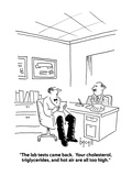 """""""The lab tests came back.  Your cholesterol, triglycerides, and hot air ar…"""" - Cartoon Premium Giclee Print by Aaron Bacall"""