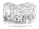 """""""Ezra, I'm not inviting you to my birthday party, because our relationship…"""" - New Yorker Cartoon Premium Giclee Print by Edward Koren"""