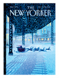 Apparition - The New Yorker Cover, December 19, 2011 Premium Giclee Print by Eric Drooker