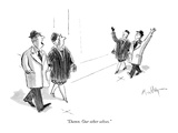 """Damn. Our other selves."" - New Yorker Cartoon Premium Giclee Print by James Mulligan"