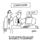 """It works perfectly when you avoid the numbers 3, 172 and 694,001."" - Cartoon Premium Giclee Print by Bob Zahn"