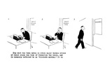 Multi-panel cartoon; a man types an article for 'Time' magazine about  dog… - New Yorker Cartoon Premium Giclee Print by Carl Rose