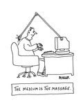 The Medium Is the Massage - Cartoon Premium Giclee Print by Peter Mueller