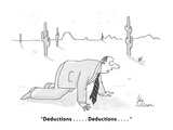 """Deductions . . . . Deductions . . . . "" - Cartoon Premium Giclee Print by Leo Cullum"
