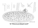 """""""Al!  What are you doing for lunch?"""" - Cartoon Premium Giclee Print by Mick Stevens"""