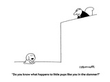 """Do you know what happens to little pups like you in the slammer?"" - Cartoon Premium Giclee Print by Charles Barsotti"