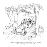 """There's something I must tell you, Herbie. It's not you I'm in love with,…"" - New Yorker Cartoon Premium Giclee Print by Everett Opie"