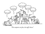 """""""The computers are fine, the staff's down."""" - Cartoon Premium Giclee Print by Charles Barsotti"""